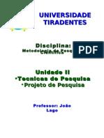 Metodologia Da Pesquisa Cientifica - Unidade II