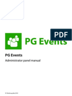 PG Events software administration manual