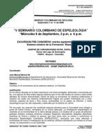V Seminario Colombiano de Espeleologia 2009 Presentacion (1)