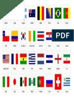 Banderas Del Mundial Brasil
