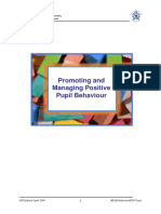 i Epd Promoting and Sustaining Positive Pupil Behaviour