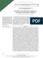 Electrolyte & Acid Base Disturbances in Diabetes Mellitus