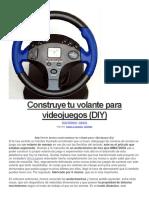 Construye Tu Volante Para Videojuegos (DIY)