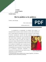 De Lo Púbico a Lo Público