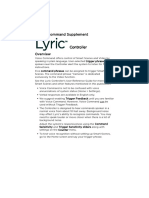 Lyric Controller Voice Command Supplement
