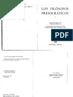 EGGERS, Conrado Et Al. [Comp.] (1978) - Los Filósofos Presocráticos, I (Gredos, Madrid, 1978-1994)