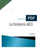 ABCD matriz de Linea de Transmisión