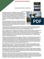 Texto de Apoio Redação 6 - Recursos Naturais, Geopolítica e Tecnologia