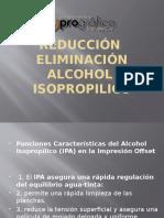 REDUCCIÓN  ELIMINACIÓN DE ALCOHOL EN LA OPERACIÓN OFFSET