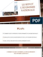 Le Btp Et l'Économie Nationale