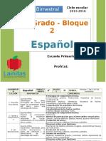 Plan 2do Grado - Bloque 2 Español.doc