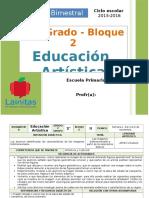 Plan 2do Grado - Bloque 2 Educación Artística.doc