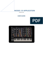 Moog Model 15 App User Guide