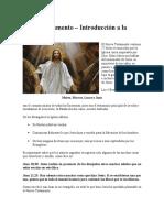 Nuevo Testamento Introducción a La Biblia