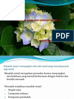 Masalah Sosial & Manfaat Sosiologi