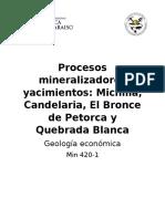 Procesos mineralizadores