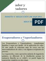 Evaporador y Vaporizadores