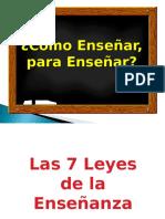 7 leyes de la enseñanza