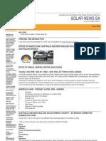 Solar News, March 2006 ~ Australian And New Zealand Solar Energy Society - South Australian Branch
