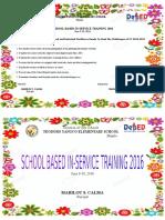 Training Design SBIM 2016.Revised