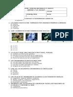 Evaluacion Ciencias Naturales 5