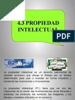 4.3 Propiedad Intelectual