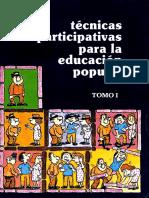 técnicas educación popular Seleccion Tomo I.pdf