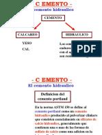 COMPONENTES DEL CEMENTO