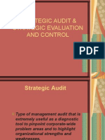 Strategic Audit and strategy Evaluation & control