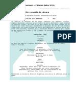 Ejemplo Puesta de Camara (Planta)