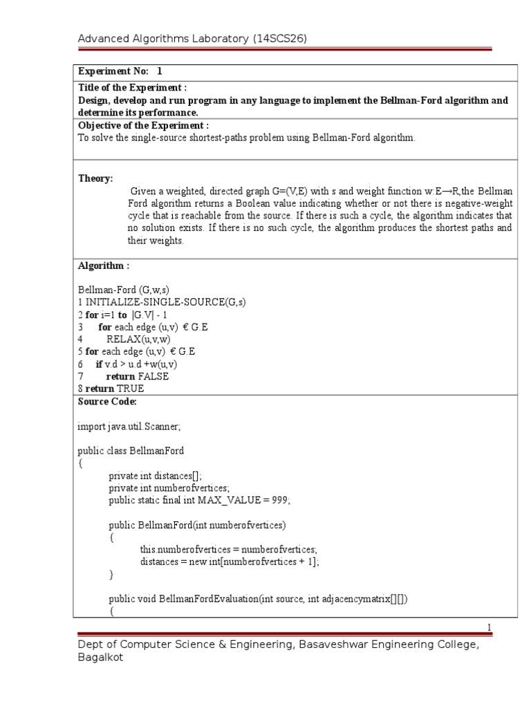Advanced ADA Lab Manual M-Tech VTU | Applied Mathematics | Mathematical  Concepts