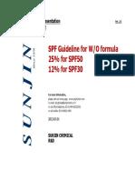 SPF Guideline for WO Formula_T-80SA for SPF50 Ver2.0