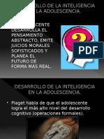 Desarrollo de La Inteligencia en La Adolescencia