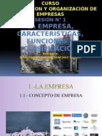 La Empresa, Elementos, Funciones, Clasificacion