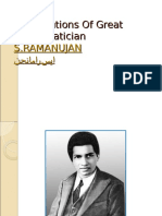 Contribution of Great Mathematician S.ramanujan in Mathematics