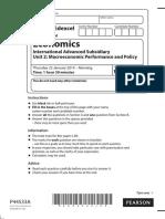 January 2014 (IAL) QP - Unit 2 Edexcel Economics