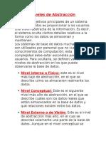 Niveles de Abstraccion de Un Sisitema Gestor Bases de Datos y Estructura de Una Base de Datos- Encarna- 24-08-2014(1)