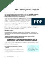 Concepts of Crisis Management-final