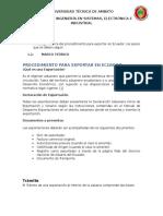 Exportacion en Ecuador