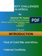 Key Security Challenges in Africa - African Land Forces Summit 2010