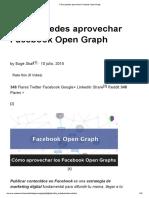 Cómo Puedes Aprovechar Facebook Open Graph