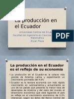 La Producción en El Ecuador