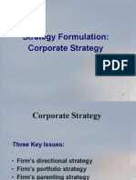 Strategy formulation - corporate level strategies