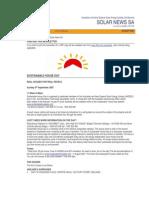 Solar News, August 2007 ~ Australian And New Zealand Solar Energy Society - South Australian Branch