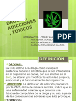 DROGAS, ADICCIONES, TÓXICOS
