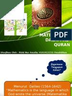 Matematika Dalam Al-Quran