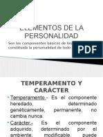 Elementos personalidad