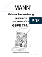 Manual Bedienungsanleitung GSPE 774.1 D
