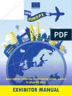 Destination Europe 2016 Exhibitor Manual 2016