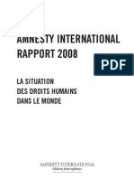 Amnesty international rapport 2008